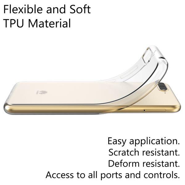 NALIA Handyhülle kompatibel mit Huawei Y6 2018, Hülle Soft TPU Silikon Case Cover Crystal Clear, Dünne Durchsichtige Etui Handy-Tasche Schutzhülle, Transparent Smart-Phone Cover Schutz Bumper – Bild 2