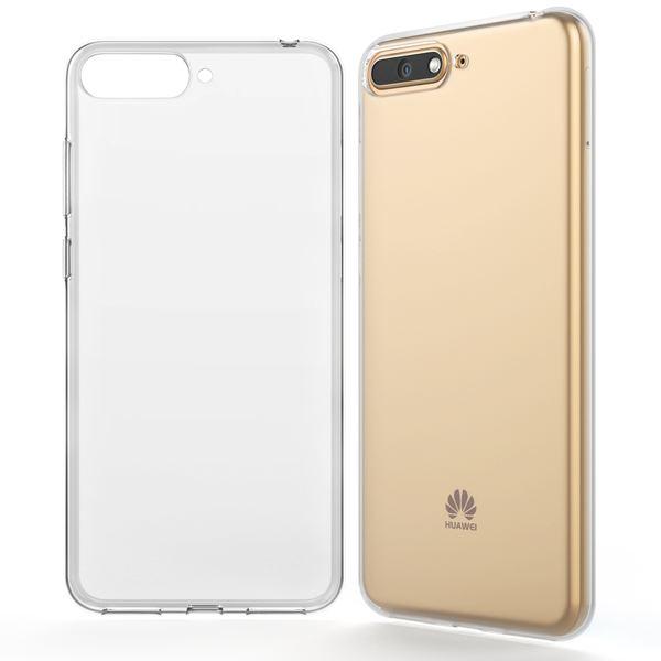 NALIA Handyhülle kompatibel mit Huawei Y6 2018, Hülle Soft TPU Silikon Case Cover Crystal Clear, Dünne Durchsichtige Etui Handy-Tasche Schutzhülle, Transparent Smart-Phone Cover Schutz Bumper – Bild 7