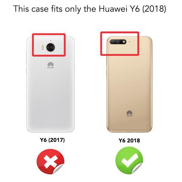 NALIA Handyhülle kompatibel mit Huawei Y6 2018, Hülle Soft TPU Silikon Case Cover Crystal Clear, Dünne Durchsichtige Etui Handy-Tasche Schutzhülle, Transparent Smart-Phone Cover Schutz Bumper – Bild 4