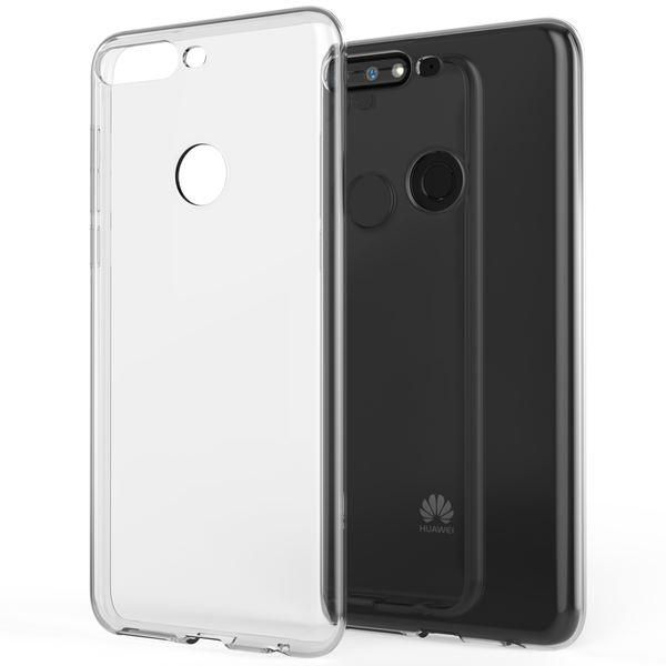 NALIA Handyhülle kompatibel mit Huawei Y7 2018, Hülle Soft TPU Silikon Case Cover Crystal Clear, Dünne Durchsichtige Etui Handy-Tasche Schutzhülle, Transparent Smart-Phone Cover Schutz Bumper – Bild 1