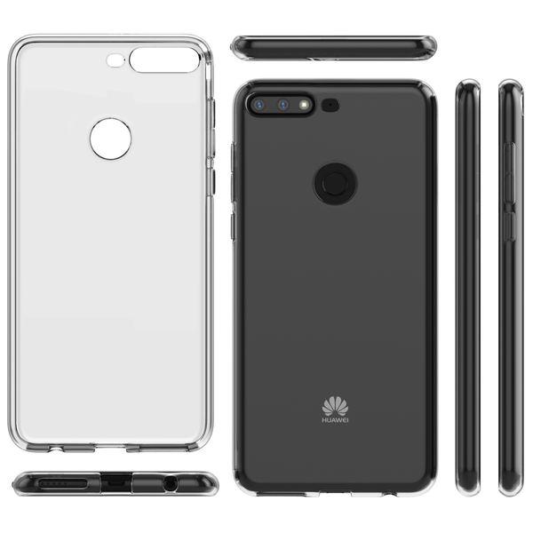 NALIA Handyhülle kompatibel mit Huawei Y7 2018, Hülle Soft TPU Silikon Case Cover Crystal Clear, Dünne Durchsichtige Etui Handy-Tasche Schutzhülle, Transparent Smart-Phone Cover Schutz Bumper – Bild 6