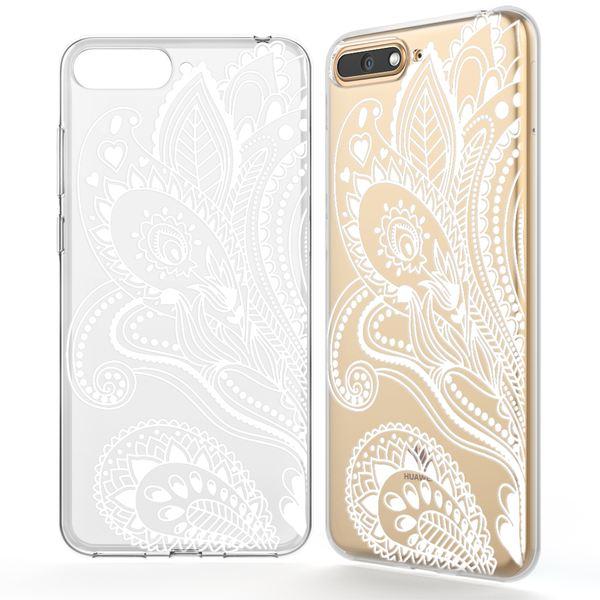NALIA Hülle kompatibel mit Huawei Y6 (2018), Ultra-Slim Handyhülle Silikon Motiv Case Crystal Schutzhülle Dünn Durchsichtig Handy-Tasche Backcover Transparent Bumper – Bild 2