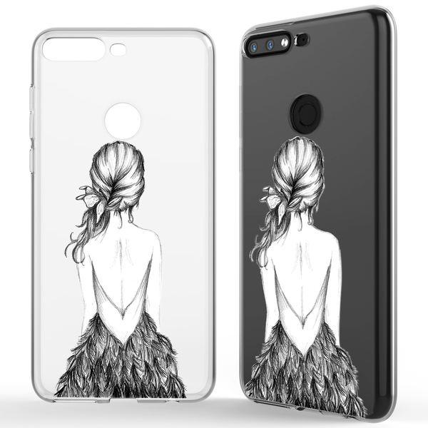NALIA Hülle kompatibel mit Huawei Y7 2018, Ultra-Slim Handyhülle Silikon Motiv Case Crystal Schutzhülle Dünn Durchsichtig, Etui Handy-Tasche Back-Cover Transparent Bumper – Bild 10