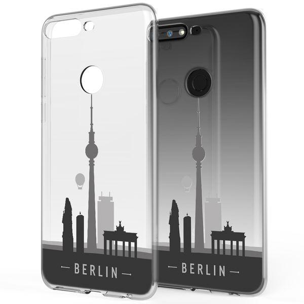 NALIA Hülle kompatibel mit Huawei Y7 2018, Ultra-Slim Handyhülle Silikon Motiv Case Crystal Schutzhülle Dünn Durchsichtig, Etui Handy-Tasche Back-Cover Transparent Bumper – Bild 5