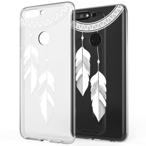 NALIA Hülle kompatibel mit Huawei Y7 2018, Ultra-Slim Handyhülle Silikon Motiv Case Crystal Schutzhülle Dünn Durchsichtig, Etui Handy-Tasche Back-Cover Transparent Bumper – Bild 14
