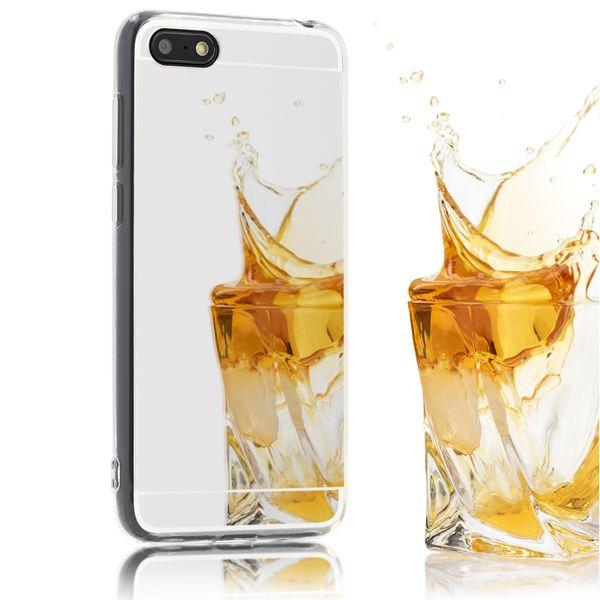 NALIA Spiegel Hülle kompatibel mit Huawei Y5 (2018), Ultra-Slim Mirror Case Cover Silikon Schutzhülle, Dünne Handyhülle Backcover verspiegelt, Handy-Tasche Smart-Phone Etui – Bild 2
