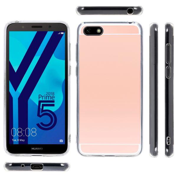 NALIA Spiegel Hülle kompatibel mit Huawei Y5 (2018), Ultra-Slim Mirror Case Cover Silikon Schutzhülle, Dünne Handyhülle Backcover verspiegelt, Handy-Tasche Smart-Phone Etui – Bild 11