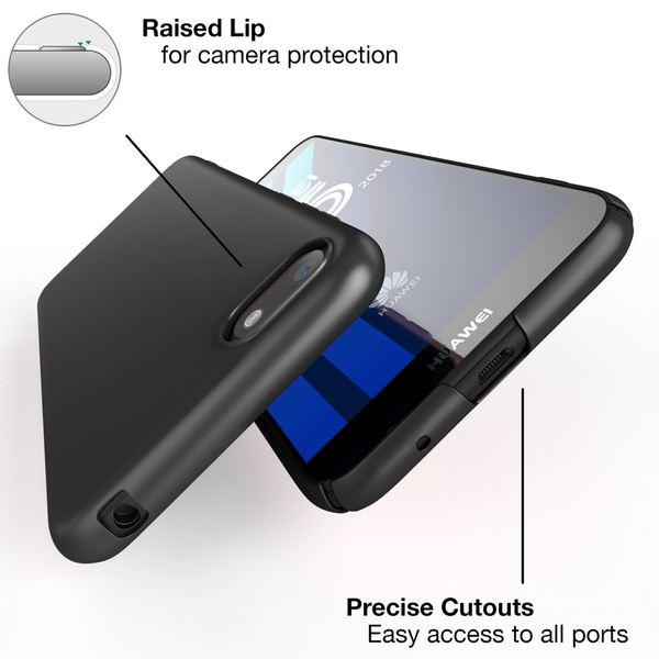 NALIA Handyhülle kompatibel mit Huawei Y5 (2018), Dünne Hard-Case Hülle Schutzhülle Matt, Ultra-Slim Cover Etui leichte Handy-Tasche, Smart-Phone Backcover Skin Bumper – Bild 3