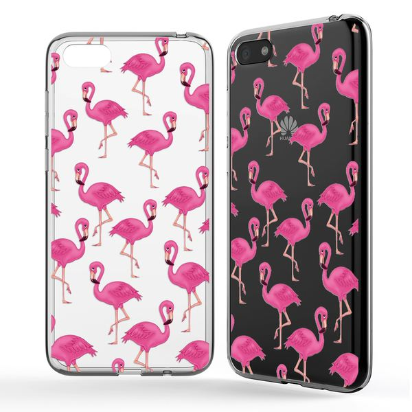 NALIA Hülle kompatibel mit Huawei Y5 (2018), Slim Handyhülle Silikon Motiv Case Cover Crystal Schutzhülle Dünn Durchsichtig, Handy-Tasche Backcover Transparent Phone Bumper – Bild 2