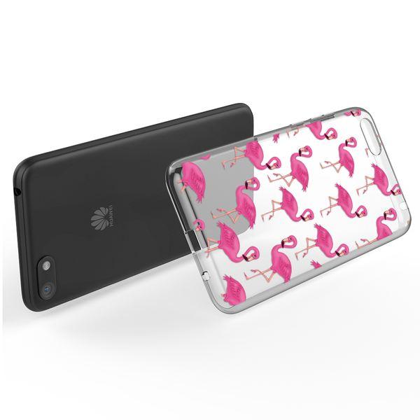 NALIA Hülle kompatibel mit Huawei Y5 (2018), Slim Handyhülle Silikon Motiv Case Cover Crystal Schutzhülle Dünn Durchsichtig, Handy-Tasche Backcover Transparent Phone Bumper – Bild 3