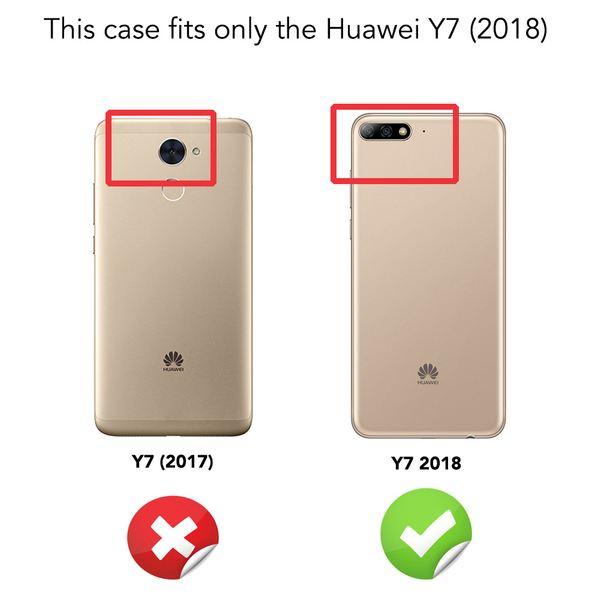 NALIA Hülle Klapphülle für Huawei Y7 / Y7 Prime (2018), Slim Kickstand Handyhülle Phone Flip-Case Kunstleder Book-Cover Magnet Ganzkörper Schutz Dünne Rundum Handy-Tasche, Etui – Bild 4