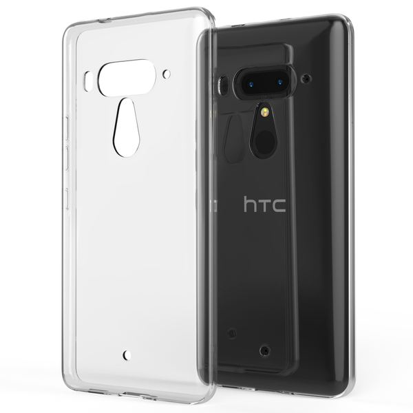 NALIA Handyhülle kompatibel mit HTC U12 Plus, Hülle Ultra-Slim TPU Silikon Gel Case Cover Crystal Clear, Dünne Durchsichtige Etui Handy-Taschen Schutzhülle, Transparent Phone Backcover Bumper – Bild 1