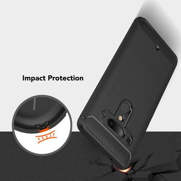 NALIA Handyhülle kompatibel mit HTC U12 Plus, Ultra-Slim Hülle Soft Silikon Case, Dünne Crystal Phone Schutzhülle, Stoßfeste Etui Handy-Tasche Back-Cover Bumper, TPU Smartphone Gummihülle  - Schwarz – Bild 3