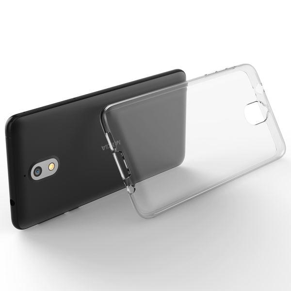 NALIA Handyhülle kompatibel mit Nokia 3.1 (2018), Soft TPU Hülle Silikon Case Cover Crystal Clear, Dünne Durchsichtige Etui Handy-Taschen Schutzhülle, Transparent Phone Back-Cover Bumper – Bild 3