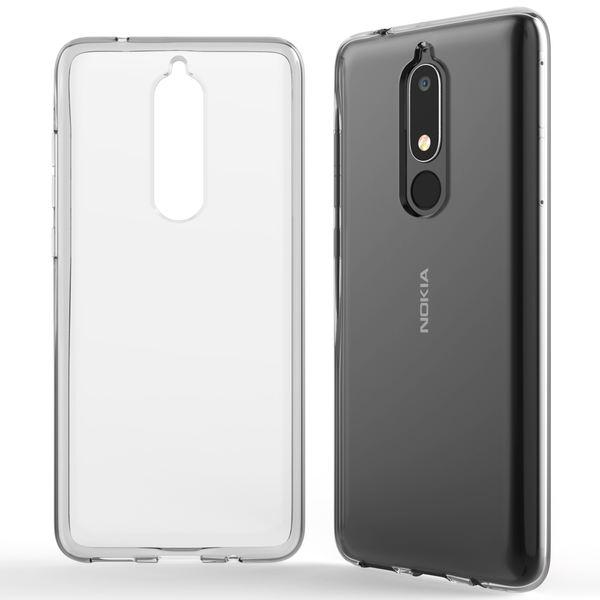 NALIA Handyhülle kompatibel mit Nokia 5.1 (2018), Soft TPU Hülle Silikon Case Cover Crystal Clear, Dünne Durchsichtige Etui Handy-Taschen Schutzhülle, Transparent Phone Back-Cover Bumper – Bild 7
