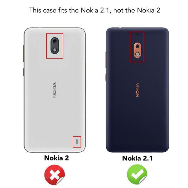 NALIA Hülle kompatibel mit Nokia 2.1 2018, Ultra-Slim Handyhülle Silikon Case Cover, Dünne matte Schutzhülle, Etui Handy-Tasche Back-Cover Bumper, TPU Smartphone Gummihülle - Schwarz – Bild 5