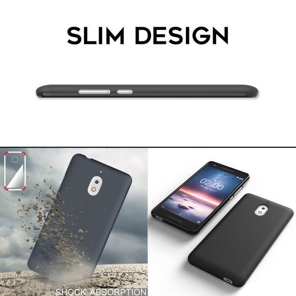NALIA Hülle kompatibel mit Nokia 2.1 2018, Ultra-Slim Handyhülle Silikon Case Cover, Dünne matte Schutzhülle, Etui Handy-Tasche Back-Cover Bumper, TPU Smartphone Gummihülle - Schwarz – Bild 7