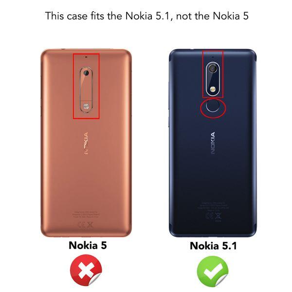 NALIA Hülle kompatibel mit Nokia 5.1 2018, Ultra-Slim Handyhülle Silikon Case Cover, Dünne matte Schutzhülle, Etui Handy-Tasche Back-Cover Bumper, TPU Smartphone Gummihülle - Schwarz – Bild 5