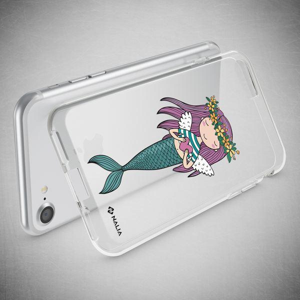 NALIA Handyhülle kompatibel mit iPhone 8 / 7, Ultra-Slim Silikon Hülle Motiv Case Cover Crystal Schutzhülle, Etui Handy-Tasche Backcover Transparent Bumper – Bild 12