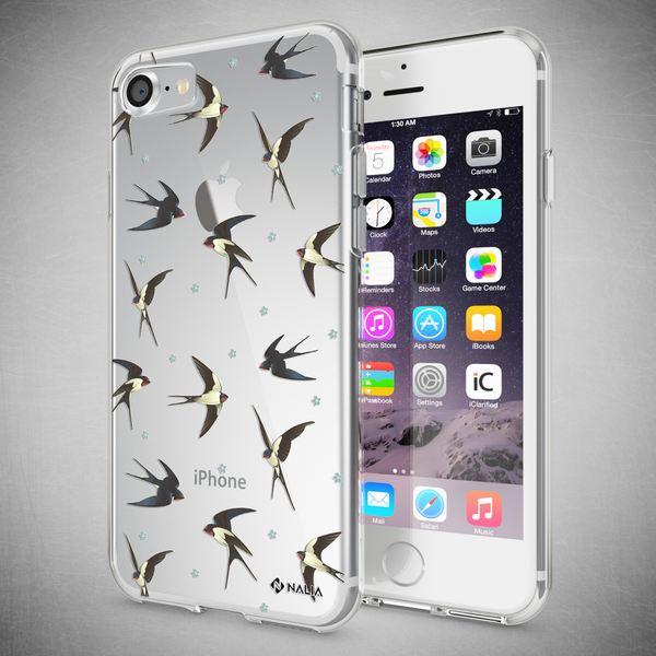NALIA Handyhülle kompatibel mit iPhone 8 / 7, Ultra-Slim Silikon Hülle Motiv Case Cover Crystal Schutzhülle, Etui Handy-Tasche Backcover Transparent Bumper – Bild 7