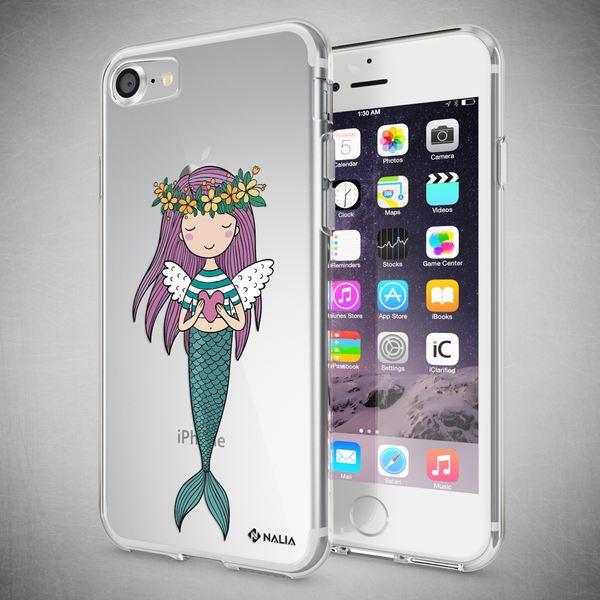 NALIA Handyhülle kompatibel mit iPhone 8 / 7, Ultra-Slim Silikon Hülle Motiv Case Cover Crystal Schutzhülle, Etui Handy-Tasche Backcover Transparent Bumper – Bild 13
