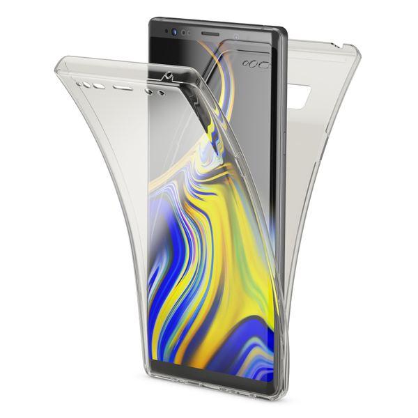 NALIA 360 Grad Hülle kompatibel mit Samsung Galaxy Note 9, Full-Cover vorne hinten Rundum Handyhülle Doppel-Schutz, Dünn Ganzkörper Case Silikon Transparenter Displayschutz Bumper  – Bild 2