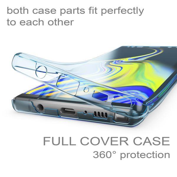 NALIA 360 Grad Hülle kompatibel mit Samsung Galaxy Note 9, Full-Cover vorne hinten Rundum Handyhülle Doppel-Schutz, Dünn Ganzkörper Case Silikon Transparenter Displayschutz Bumper  – Bild 18