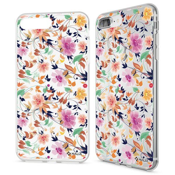 NALIA Handyhülle kompatibel mit iPhone 8 Plus / 7 Plus, Ultra-Slim Silikon Motiv Hülle Crystal Case Cover, Handy Schutzhülle Clear Dünn, Etui Handy-Tasche Backcover Bumper – Bild 2