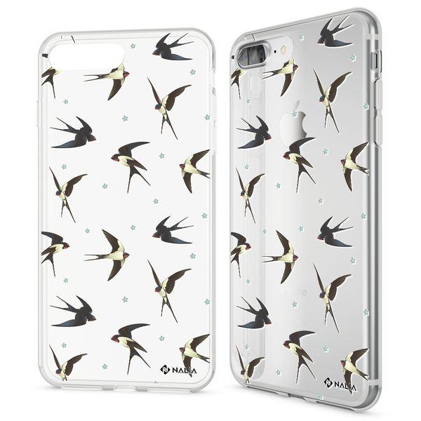 NALIA Handyhülle kompatibel mit iPhone 8 Plus / 7 Plus, Ultra-Slim Silikon Motiv Hülle Crystal Case Cover, Handy Schutzhülle Clear Dünn, Etui Handy-Tasche Backcover Bumper – Bild 5