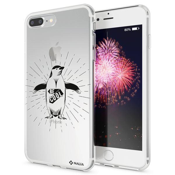NALIA Handyhülle kompatibel mit iPhone 8 Plus / 7 Plus, Ultra-Slim Silikon Motiv Hülle Crystal Case Cover, Handy Schutzhülle Clear Dünn, Etui Handy-Tasche Backcover Bumper – Bild 10