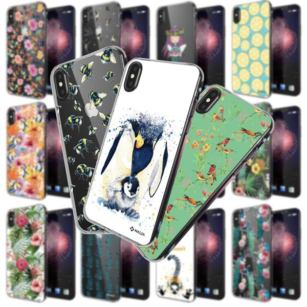 NALIA Handyhülle kompatibel mit iPhone X XS, Slim Silikon Hülle Motiv Case Cover Crystal Schutzhülle, Durchsichtig Etui Handy-Tasche Backcover Transparent Bumper – Bild 1