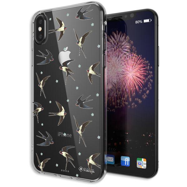 NALIA Handyhülle kompatibel mit iPhone X XS, Slim Silikon Hülle Motiv Case Cover Crystal Schutzhülle, Durchsichtig Etui Handy-Tasche Backcover Transparent Bumper – Bild 7