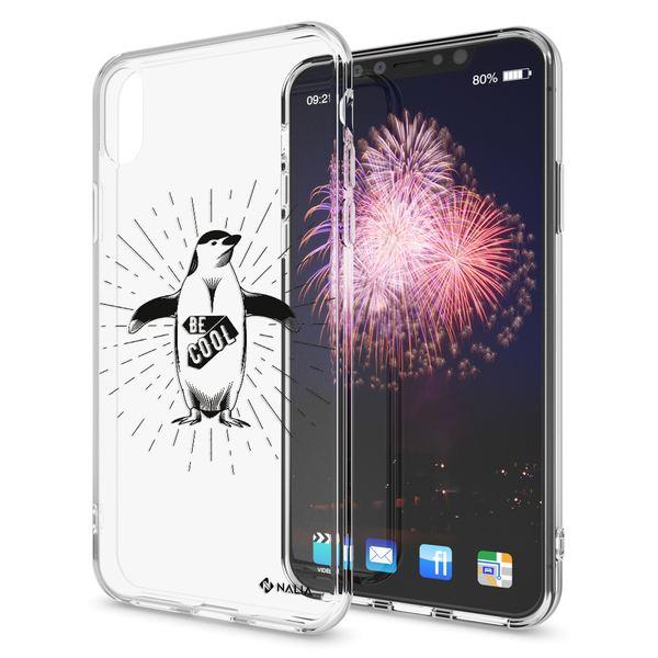 NALIA Handyhülle kompatibel mit iPhone X XS, Slim Silikon Hülle Motiv Case Cover Crystal Schutzhülle, Durchsichtig Etui Handy-Tasche Backcover Transparent Bumper – Bild 8