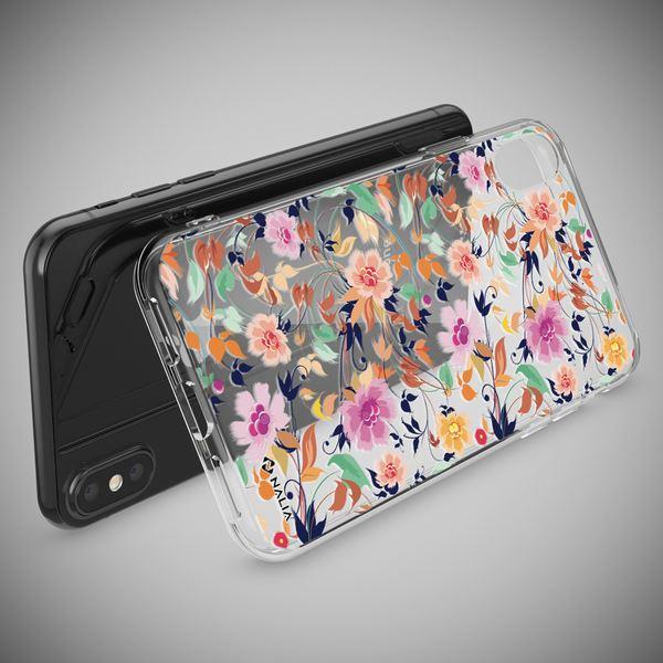 NALIA Handyhülle kompatibel mit iPhone X XS, Slim Silikon Hülle Motiv Case Cover Crystal Schutzhülle, Durchsichtig Etui Handy-Tasche Backcover Transparent Bumper – Bild 3