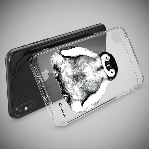 NALIA Handyhülle kompatibel mit iPhone X XS, Slim Silikon Hülle Motiv Case Cover Crystal Schutzhülle, Durchsichtig Etui Handy-Tasche Backcover Transparent Bumper – Bild 21