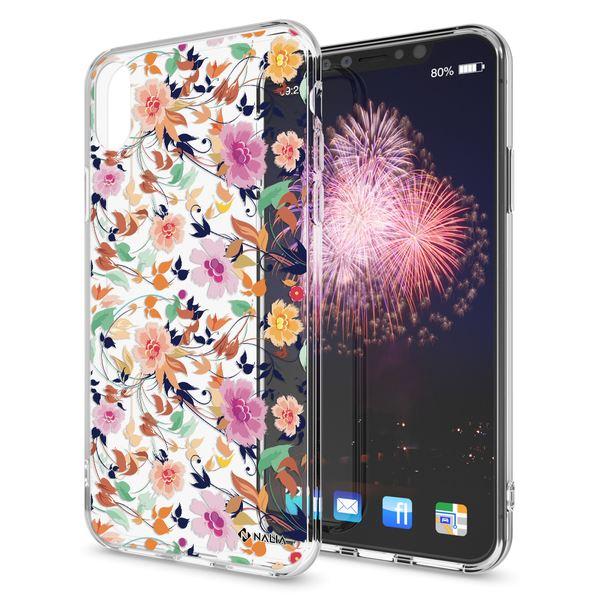 NALIA Handyhülle kompatibel mit iPhone X XS, Slim Silikon Hülle Motiv Case Cover Crystal Schutzhülle, Durchsichtig Etui Handy-Tasche Backcover Transparent Bumper – Bild 2
