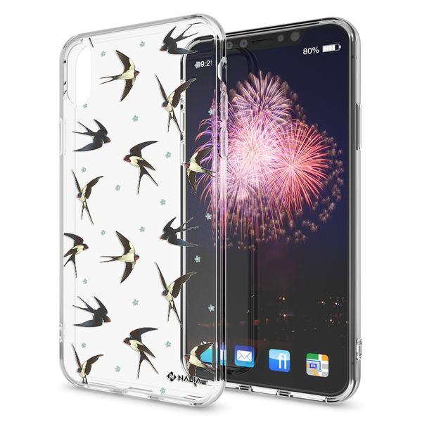 NALIA Handyhülle kompatibel mit iPhone X XS, Slim Silikon Hülle Motiv Case Cover Crystal Schutzhülle, Durchsichtig Etui Handy-Tasche Backcover Transparent Bumper – Bild 5
