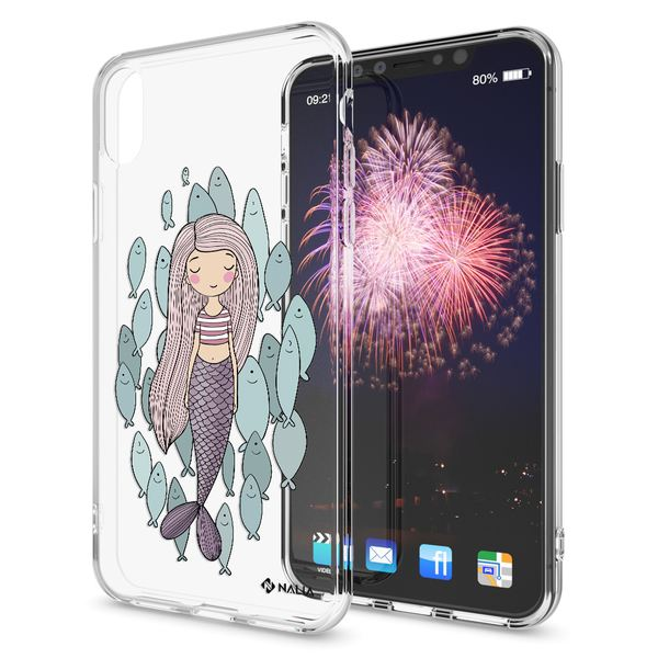 NALIA Handyhülle kompatibel mit iPhone X XS, Slim Silikon Hülle Motiv Case Cover Crystal Schutzhülle, Durchsichtig Etui Handy-Tasche Backcover Transparent Bumper – Bild 14