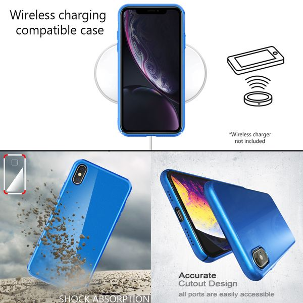 NALIA Handyhülle kompatibel mit iPhone XS Max, Dünne Hülle Hardcase Schutzhülle, Ultra-Slim Cover Case Etui Handy-Tasche, Thin Smart-Phone Schutz Backcover Skin Bumper – Bild 13