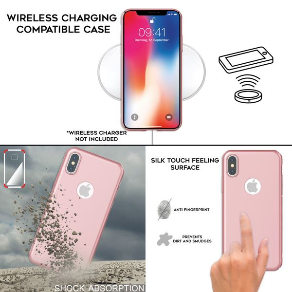 NALIA Hülle kompatibel mit iPhone XS Max, Dünne Hard-Case Schutzhülle Matt, leichte Handyhülle Ultra-Slim Cover Etui Handy-Tasche, Smart-Phone Backcover Skin Bumper – Bild 6