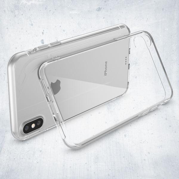 NALIA Handyhülle kompatibel mit iPhone XS Max, Ultra-Slim Silikon Hülle Case Cover Schutzhülle Dünn Durchsichtig, Etui Handy-Tasche Backcover Transparent Bumper – Bild 3