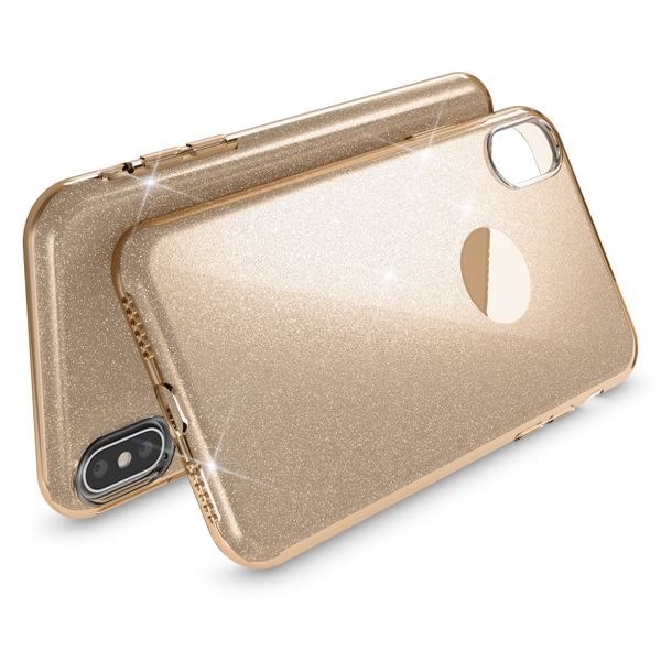 NALIA Hülle kompatibel mit iPhone XS Max, Handyhülle Glitzer Ultra-Slim Silikon-Case Back-Cover Schutzhülle, Glitter Sparkle Handy-Tasche Bumper Dünnes Bling Strass Etui Schutz – Bild 13