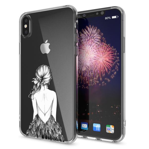NALIA Hülle kompatibel mit iPhone XS Max, Ultra-Slim Silikon Motiv Case Cover, Schutzhülle Dünn Transparent, Etui Handyhülle Handy-Tasche Backcover Bumper Durchsichtig – Bild 8