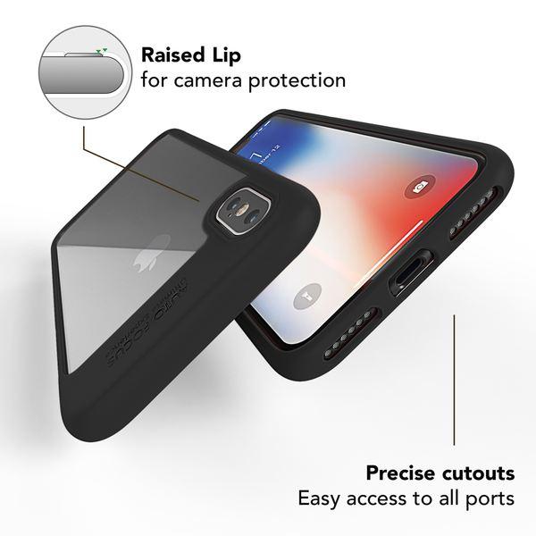 NALIA Handyhülle kompatibel mit iPhone XS Max, Durchsichtiges Hülle Case Cover, Transparente Rückseite & Silikon Bumper, Crystal Schutzhülle Etui Dünn Smartphone Handy-Tasche Backcover – Bild 10