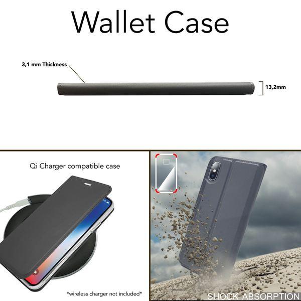 NALIA Klapphülle kompatibel mit Apple iPhone XS Max, Slim Kickstand Handyhülle Flip-Case Kunstleder Hülle Book-Cover mit Magnet, Ganzkörper Schutz Dünne Rundum Handy-Tasche Bumper – Bild 7