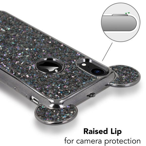 NALIA Hülle für iPhone XR, Handyhülle Glitzer Ultra-Slim Cover Case mit Maus Ohren, Glitter Silikon Schutzhülle Dünnes Strass Bling Etui, Handy-Tasche Bumper für Apple i-Phone XR – Bild 9