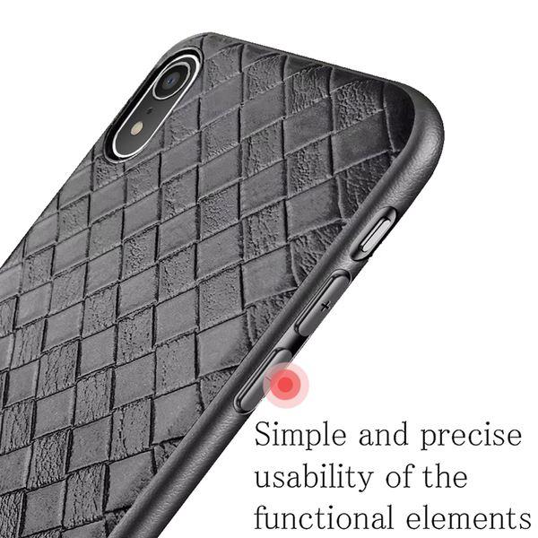NALIA Handyhülle kompatibel mit iPhone XR, Ultra-Slim Hülle gewebtes Muster Hardcase, Dünnes Phone Cover Schutzhülle Skin, Etui Case Handy-Tasche Backcover Smartphone Bumper – Bild 5