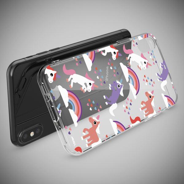 NALIA Hülle kompatibel mit iPhone XS Max, Handyhülle Ultra-Slim Silikon Case Cover, Schutzhülle Dünn Durchsichtig Transparent, Motiv Etui Handy-Tasche Backcover Bumper – Bild 3