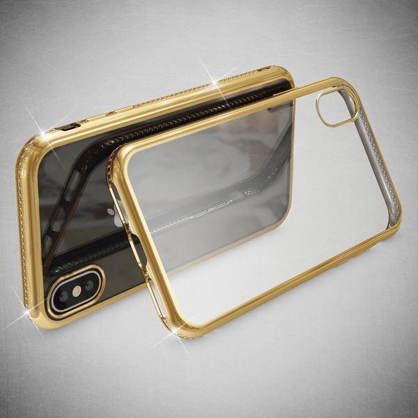 NALIA Hülle kompatibel mit iPhone XS Max, Durchsichtige Handyhülle Ultra-Slim Silikon Case Transparente Rückseite & Strass-Bumper, Crystal Schutzhülle Cover Backcover Handy-Tasche – Bild 14