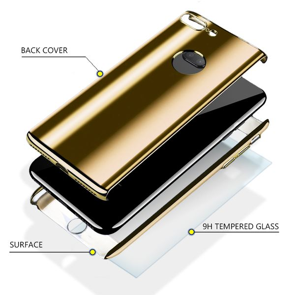 NALIA 360 Grad Handyhülle kompatibel mit Apple iPhone 8 Plus / 7 Plus, Full-Cover & Schutzglas vorne hinten Hülle Doppel-Schutz, Dünn Ganzkörper Case Bumper & Displayschutz – Bild 25